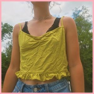 Chartreuse Cropped Tank